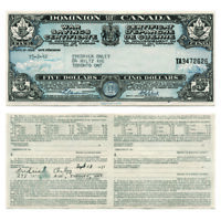 Dominion of Canada War Savings Certificate 5 1942  Extra Fine
