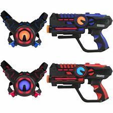 ArmoGear Infrared Laser Tag Guns and Vests - Laser Battle Game Pack - Blue/Red