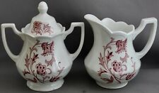 ROYAL STAFFORDSHIRE/J & G MEAKIN PITCHER & COVERED SUGAR DISH-WINDSONG  M 760