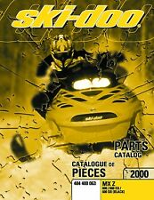 Ski-Doo parts manual catalog book 2000 MX-Z 600, MX-Z 600 SB & MX-Z 600 SB BLACK