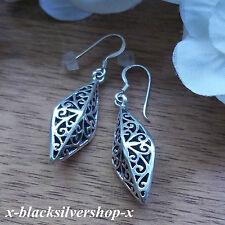 Keltische Damen Silber 925 Ohrringe Ornamente Jugendstil Raute Gothic Celtic