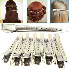 Hair Sectioning Clips Extension Metal Strong Grip Duck Bill Section Divider x 12