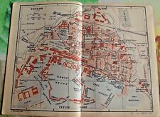 1930 the guide of the old town Toulon department 83 France old map art print