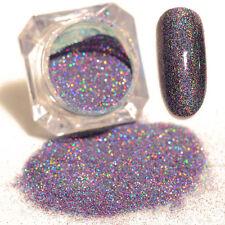 Holographic Holo Laser Powder Glitter purple Nail Art Manicure Dust Pigment 1g