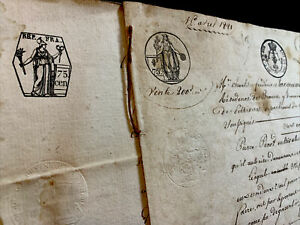 LOT OF TWO OLD DOCUMENTS 1800s