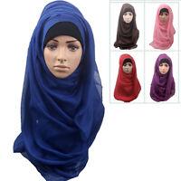 Muslimisch Damen Baumwolle Voll Hülle Inner Hijab Mützen Islamisches Underscarf