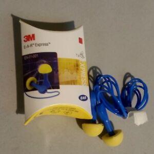 3M EAR Express Pod Earplugs Ear Plugs Corded Noise Protector  EX-01-001