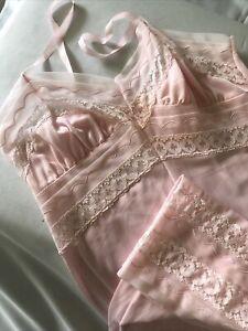 Vintage Pink Slip by La Mode Size SW