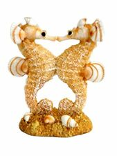 3.5 Inch Resin Double Kissing Seahorse with Sand and Shells