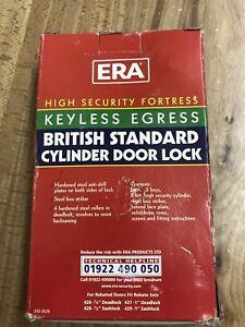 ERA 334 Fortress Keyless Egress BS8621 Euro Cylinder lock Set complete RRP £60