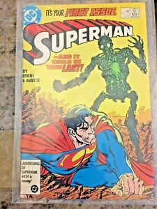 Superman #1 (1987)  DC Key Issue Copper Age Comic Book John Byrne Cover
