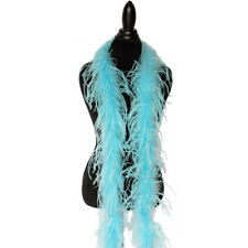 Aqua Blue 1ply Ostrich Feather Boa Scarf Prom Halloween Costumes Dance Decor