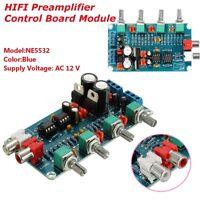 PREAMPLIFICATORE AUDIO STEREO NE5532 12V AC TONO PREAMPLIFIER CONTROL BOARD HIFI