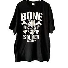 Bullet Club T Shirt Size 2XL BLACK | Bone Soldier NJPW Wrestling Marty Scurll