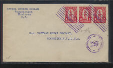 Honduras 1924 cover 3 stamps to Eastman Kodak Co Ms0323