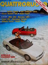 Quattroruote 405 1989 Prove Cadillac Allanté e Skoda Favorit. Nissan [Q.39]