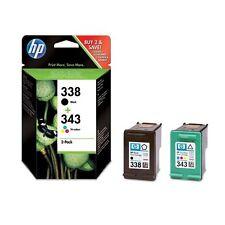HP ORIGINAL 338+343 DRUCKER PATRONE PhotoSmart 2575 2605 2610 7850 8150 C3100