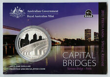 "2011 $1 Silver Coin: ANDA Release ""Capital Bridges - Narrows Bridge."""