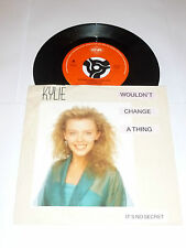 "KYLIE MINOGUE - Wouldn't Change A Thing - 1989 Dutch 7"" Juke Box vinyl single"