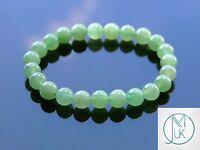 Green Aventurine Natural Gemstone Bracelet 7-8'' Elasticated Healing Stone Reiki