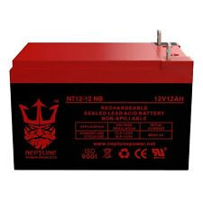 Neptune 12V 12AH Rechargeable Sealed Lead Acid Battery T3 Nut and Bolt Terminals