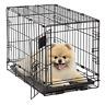"Folding Crate Pet Crates 22"" Dog Cage Medium Size Single Door Divider Kennel New"