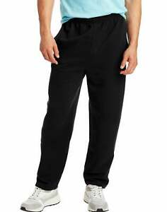 Hanes Men Fleece Sweatpants w/ pockets ComfortSoft EcoSmart Low-pill High Stitch