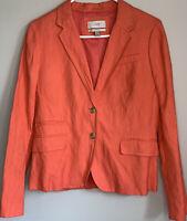 J.Crew Womens Schoolboy Blazer Jacket Coat Coral Peach Size 10