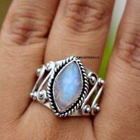 Moonstone Ring 925 Sterling Silver Ring Statement Ring Handmade Ring Size sr561