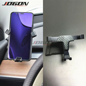 For Tesla Model 3 2017-20 Carbon Fiber Style Air Vent Cell Phone Holder Support