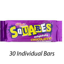 KELLOGG'S SQUARES DELIGHTFULLY CHOCOLATEY BARS x 30 INDIVIDUAL BARS 175452