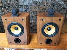 B&W Matrix 805 Bowers and Wilkins bookshelf speakers in walnut complete