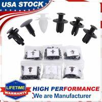 100 Clip Trim Auto Push Pin Rivet Bumper Fastener Door Panel Retainer Assortment