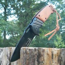 "8.5"" ELK RIDGE Wood Hunting SPRING ASSISTED OPEN Gentleman Folding POCKET KNIFE"