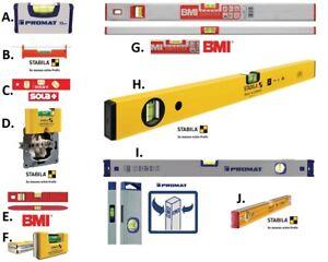 Riesige Auswahl an Qualitäts Wasserwaagen STABILA , BMI , PROMAT + SOLA