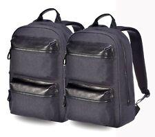 Brand New Xiaomi Men Black Leather  Business Laptop bag Backpack School College