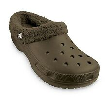 Crocs Mammoth Clogs Women's chocolate brown furry sz 6 Med NEW with tags
