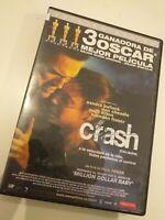 dvd CRASH GANADORA 3 OSCAR  ,OBRA MAESTRA MODERNA/sandra bullock y matt dillon..