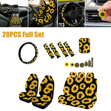 20PCS Sunflower Seat Cover Seat Belt & Armrest Pad Steering Wheel Cover Keychain