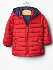 GAP Baby / Toddler Boy 18-24 Months Red / Blue Reversible Warmest Puffer Coat