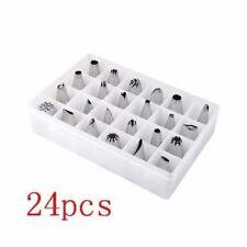 24 PCS Icing Piping Nozzles Pastry Tips Cake Sugarcraft Decorating Tools TR9203