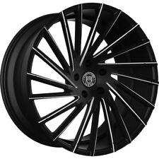 "4ea 18"" Lexani Wheels Wraith Black W CNC Accents Rims (S5)"