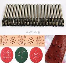 20 Stlyes Leather Shape Punch Stamp Hollow Hole for Wallet Bag Belt Gasket