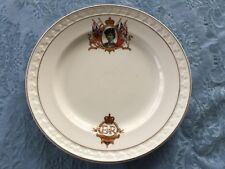 Aynsley china England Queen Elizabeth coronation plate wearing military uniform