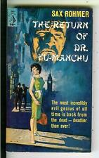 RETURN OF FU MANCHU by Sax Rohmer, Pyramid #G641 Asian crime gga pulp vintage pb