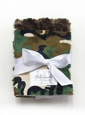 Camo and Chocolate Swirl by Baby Laundry-Minky Burpies-Set of Two