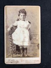Victorian Carte De Visite CDV: Smart Child On Chair: Bridge: London
