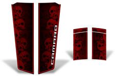 Chevy Camaro Hood & Trunk Race Stripes Graphics Stickers Decals 10-15 SKULLS