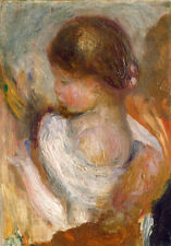 Young Girl Reading by Pierre-Auguste Renoir 60cm x 50cm Art Paper Print