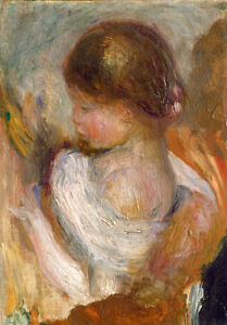 Young Girl Reading by Pierre-Auguste Renoir 60cm x 50cm Art Paper Print